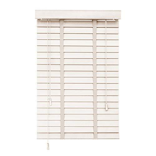 Jalousien Fenster Weiß,Verdunkelungs Vorhänge,Arbeitszimmer/Wohnzimmer/Büro,Echtholz Jalousien,Atmungsaktiv/Sonnenschutz,Anpassbar,87x73cm/34.5x28.5in