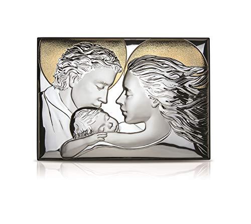 REGALOS LLUNA Sagrada Familia Icono Plateado 11x14 Cm.