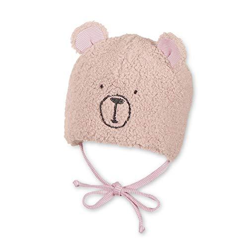 Sterntaler - baby meisje muts gevoerd wintermuts met oortjes om te binden teddy, roze - 4501980