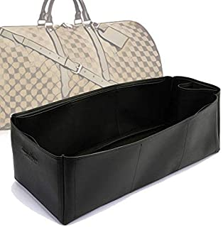 Keepall 55 Deluxe Leather Handbag Organizer in Black Color
