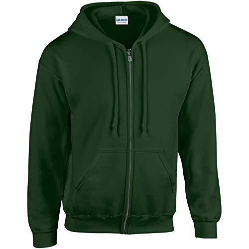 Gildan mens Heavy Blend 8 oz. 50/50 Full-Zip Hood(G186)-FOREST GREEN-M