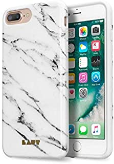 LAUT - HUEX Elements Case for iPhone 8 & iPhone 7 & iPhone 6s/6 with Anti-scratch 360� Protection | Marble Pattern (Marble White)