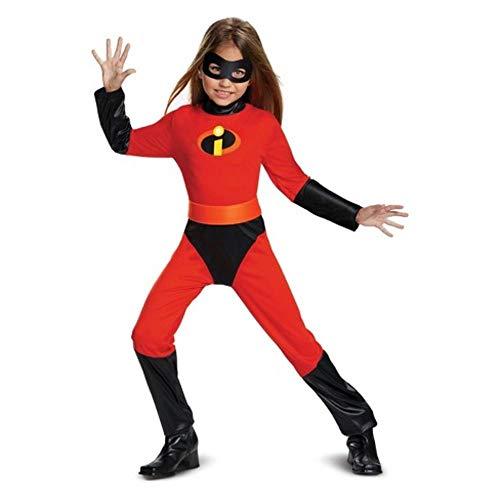 NUEVO disfraz de niñas disfraz de HalloweenSr. increíble 2 mono disfraz niñas violeta Cosplay niños superhéroe disfraz