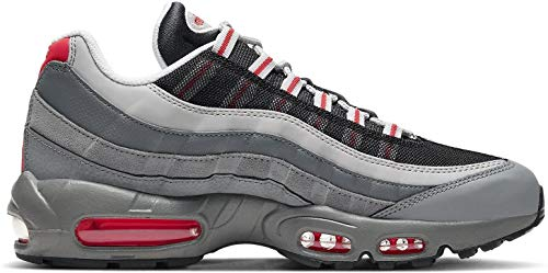 Nike Air MAX 95 Essential, Zapatillas para Correr Unisex Adulto, Track Red White Particle Grey Black Grey Fog Track Red, 42 EU