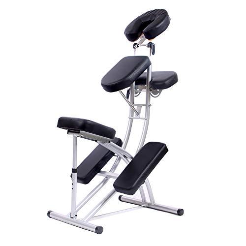 HSRG Chaise de Massage Ergonomique, Chaise Longue réglable Pliante portative, pour Chaise de...