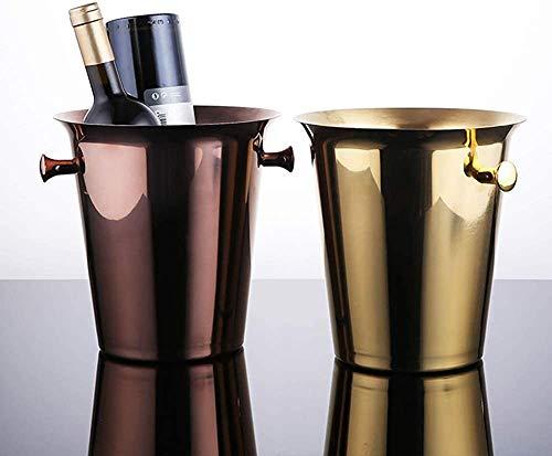 Panelk Cubo de Hielo, Alta Capacidad de la Cerveza más fría de champán con Mango alicates, Cubo de Champagne de Acero Inoxidable para Vino de Hielo frío en la Barra de,Metallic