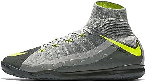 Nike Men& 039;s Hypervenomx Proximo II DF IC Indoor Soccer schuhe (schwarz, grau, Volt)
