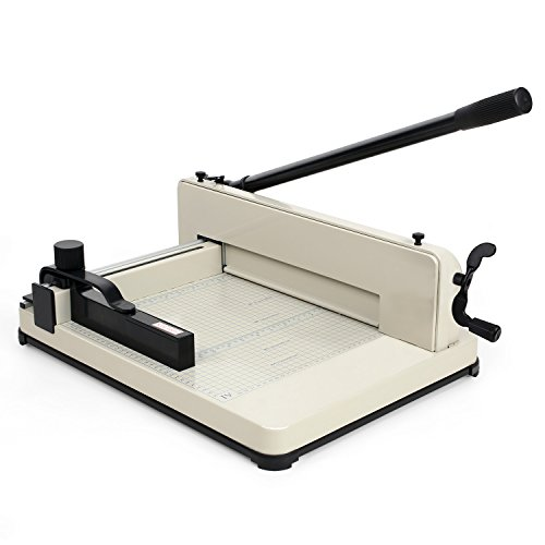 Amzdeal Paper Cutter Guillotine Paper Cutter Trimmer Professional Heavy Duty Commercial Paper Cutter A4 Paper Cutting Machine