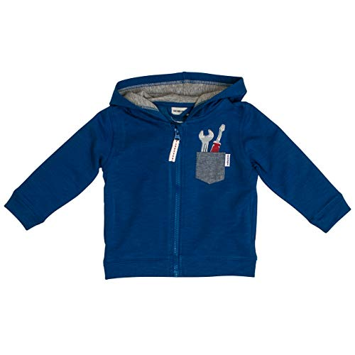 SALT AND PEPPER baby-jongens hoodie Born to drive Werkzeug aus Schaumprint
