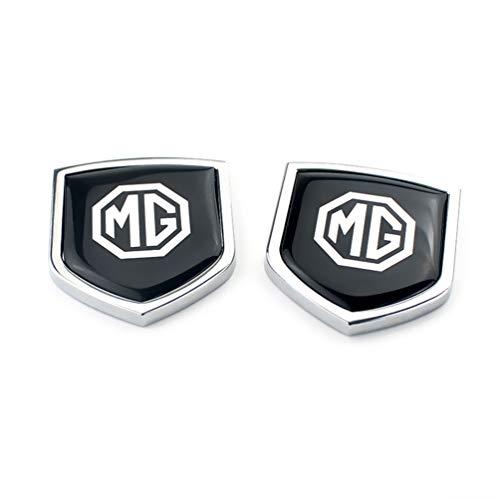 wangjianbin 2pcs Metall Aufkleber Emblem Abzeichen Aufkleber Flanken Fender Trunk Car Styling FüR Morris Garage Mg3 Tf Zr Mg 3 5 6 7 Zs Gs Gt Mg5 Mg6 Mg7