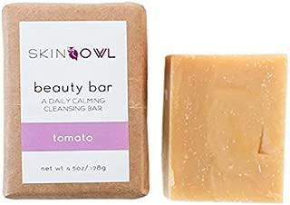 Skin Owl - All Natural/Vegan Tomato Beauty Bar Facial Cleanser (For Oily/Sensitive Skin)
