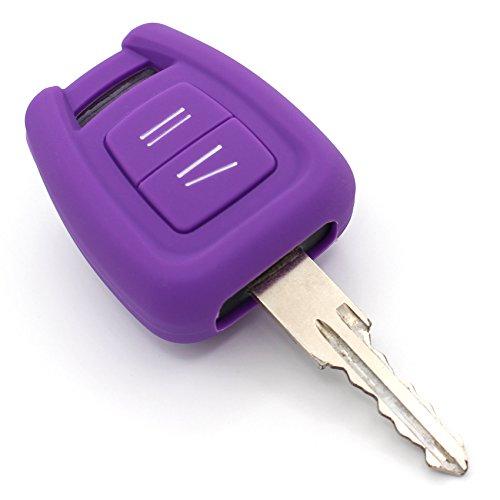 Schlüssel Hülle of für 3 Tasten Auto Schlüssel Silikon Cover von Finest-Folia (Lila)