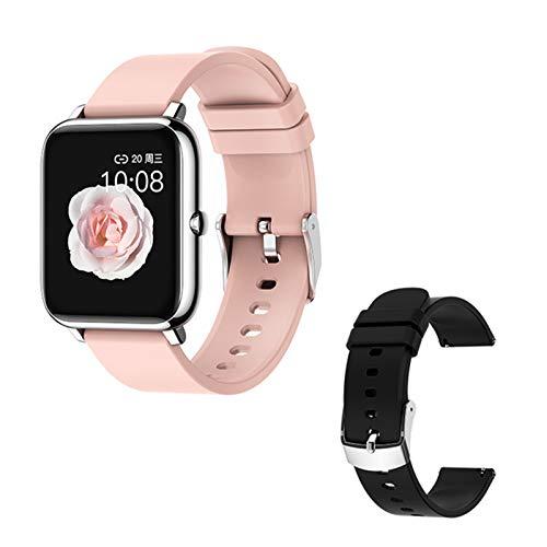 Moda Full Touch P22 Smart Watch Square Ladies Sports Sports Watch Electronic Ladies Watch Andriod iOS Teléfono Teléfono Horas,G