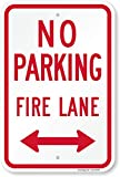 SmartSign 'Fire Lane - No Parking' Official Colorado Sign with Bidirectional Arrow | 12' x 18' Aluminum