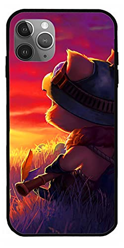 JGTEE Phone Case Compatible with iPhone 12 11 X Xs Xr 8 7 6 6s Plus Mini Pro Max Teemo League of Legends Figure Shirt Cool Video Game LOL Multiplayer Pure Clear Cases Cover Full Body