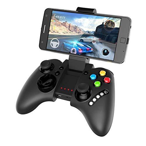 MILECN Inalámbrico Bluetooth Controlador De Juegos Compatible con Controladores De Juegos Móviles, PC De Android iOS Controlador De Juegos Móvil Gamepad con Soporte para Teléfono