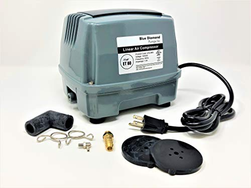 Blue Diamond ET80+ Plus - Septic or Pond Linear Diaphragm Air Pump with Free Additional Air Filter