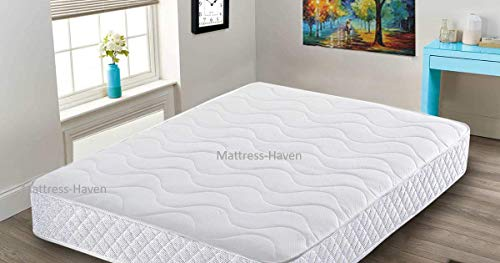 Mattress-Haven Orthopaedic Memory Foam Sprung Open Coil Spring Mattress Coolblue Quilted Memory Foam Matress Memory Spring3FT - Single