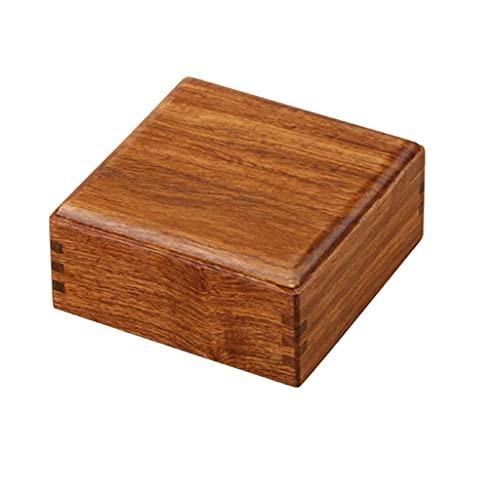 EPOU Joyero Caja de joyería Hermosa Simple, Caja de joyería de Madera Maciza Retro de Gama Alta, Caja de joyería para Mujeres niñas Regalo de Lujo contenedor Organizador jewlwey (Color : B)