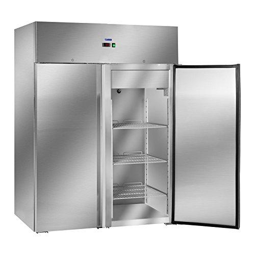Royal Catering Gastro Kühlschrank Lagerkühlschrank Gewerbekühlschrank RCLK-S1200 (1.168 L, Leistung 480 W, 6 Einlagen je 64,8 x 53 cm, verschließbare Schwenktüren, Temperaturbereich - 2 bis + 8 °C)
