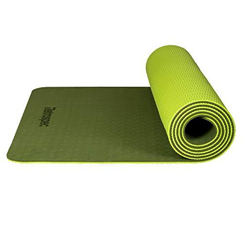 Retrospec Zuma Yoga Mat w/Nylon Strap for Men & Women - Non Slip Excercise Mat for Yoga, Pilates, Stretching, Floor & Fitness Workouts
