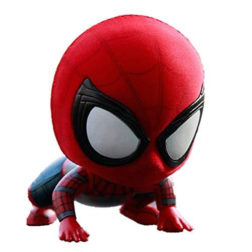 K & E ke Avengers Amazing Spider-Man Q Version of The Garage kit Model Dolls Shaking Head car Ornaments Spider-Man Marvel Resin kit car Ornaments Birthday Gift (A)