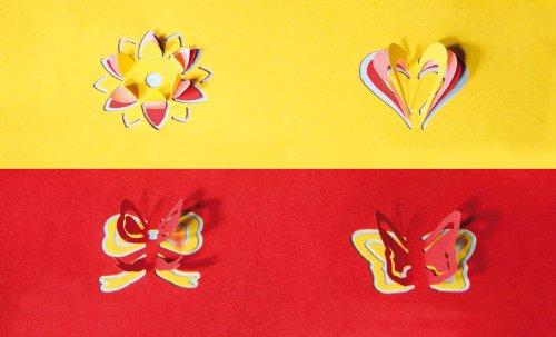 Wedo Motivlocher Herz mit 3D-Effekt |3,5 x 3,0 cm