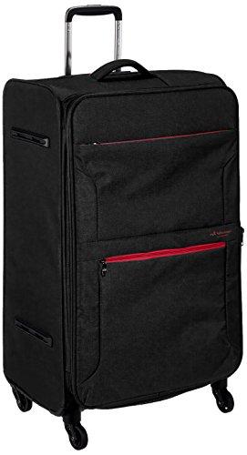 [ヒデオワカマツ] スーツケース ソフト フライエア 超軽量 無料預入 拡張時88L 85-95860 80L 77 cm 3.1kg ブラック