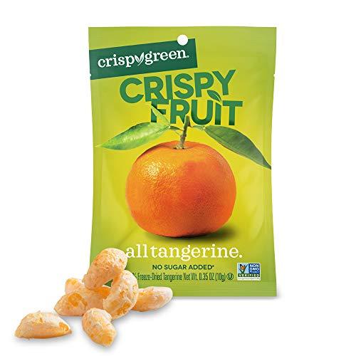 Crispy Green Freeze-Dried Fruit, Single-Serve, Tangerine, 0.35 Ounce (Pack of 12) | Non-GMO |Gluten Free |No Sugar Added