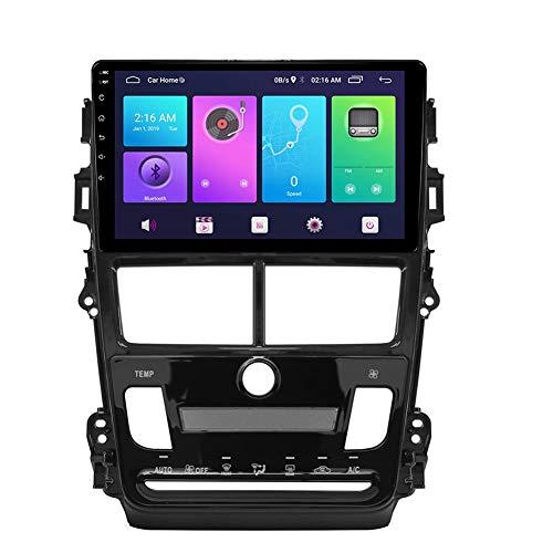 LINNJ Navegación de Coche Android Car Stereo Sat Nav para Toyota VIOS Yaris 2018 (AT AC) Unidad Principal Sistema de navegación GPS SWC 4G WiFi BT USB Mirror Link Carplay Integrado