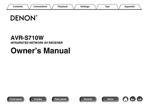 Denon AVR-S710W Receiver Owners Instruction Manual Reprint [Plastic Comb]