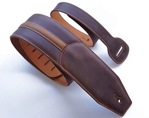 Correa de piel para guitarra de 3 pulgadas, acolchada, suave, para guitarras...