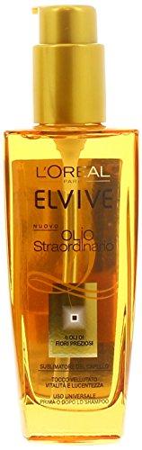 L'Oréal Paris Elvive Olio Straordinario Trattamento Nutriente per Capelli Normali o Secchi, 100 ml
