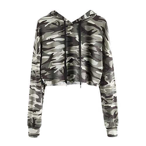 TWIFER Kapuzenpullover Hoodie Camouflage Sweatshirt Damen Langarm Pullover