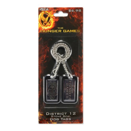 NECA La Faim Jeux Attraper Fire District 12 Dog Tag Joint