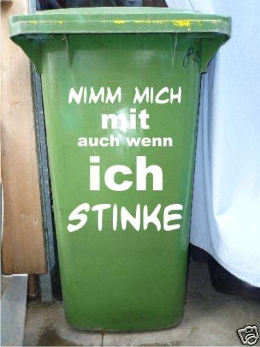 Mülltonnen Spruch Aufkleber
