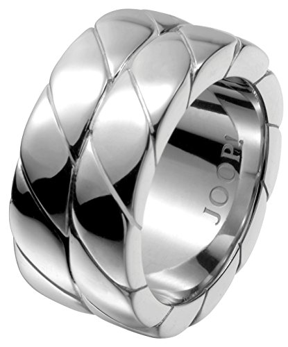 Joop! Damen-Ring 925 Sterling Silber rhodiniert Braided