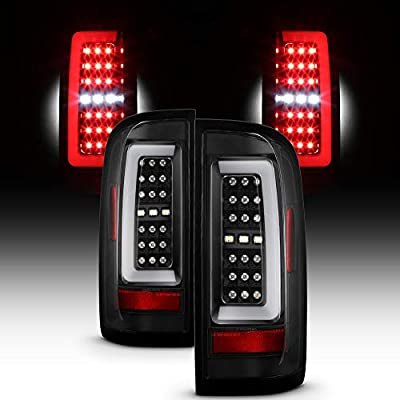 For 2015-2019 Chevy Colorado/GMC Canyon Full LED Daytime Running Lamp Bar Tail Lights Black Housing Clear Lens Full Set