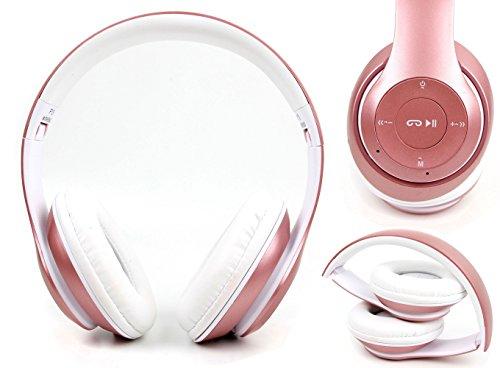 DURAGADGET Casque Audio sans Fil sans Fil pour Smartphone Blackview A7, Ulefone S8 Pro et DOOGEE X20L – Rose Gold Pliable