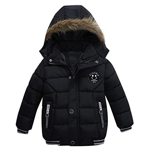 Babykleidung,Sannysis Kinder Mantel Jungen Mädchen Dick Jacke Gepolsterte Winterjacke Kleidung 2-5Jahre (110, Schwarz)