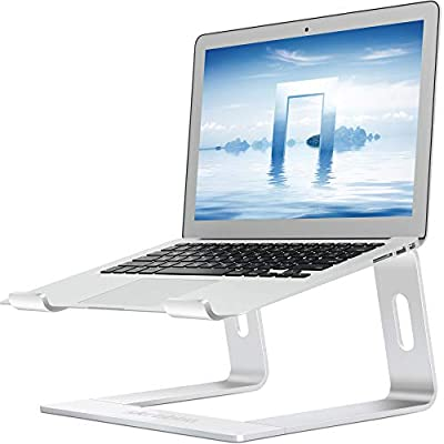 "Skrebba Laptop Stand, Detachable Aluminum Computer Notebook Holder Stand for Desk, Ergonomic Laptop Riser Portable Laptop Elevator Compatible with Apple MacBook Air Pro, Lenovo, HP, Dell (10-17"" ) PC"