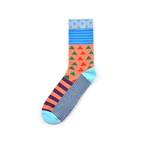 Générique Bedruckte Socken, Mens, Baumwolle, gefärbt, Funky Fantasia Geometrische Fantasia Cool Regale Bewegung Casual Büro Socken Felice Unisex Damen