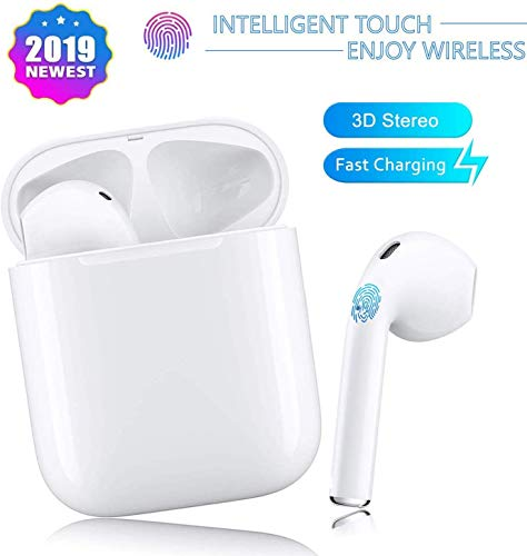 PHXOZ Bluetooth headset, i11 wireless headset touch control, pop-up pairing, built-in stereo noise reduction microphone, compatible with Apple Airpods Android/iPhone