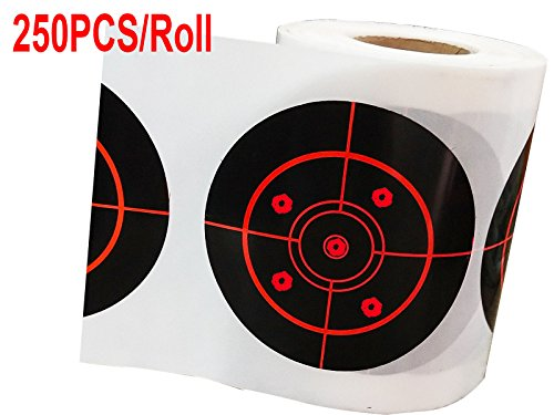 Top label Splatter Target Stickers3 Inch Reactive Self Adhesive Shooting Target for BB Pellet Airsoft Guns High Visibility Red Impact250 Pcs/Roll