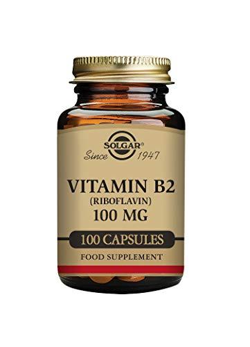 Solgar Vitamin B2 (Riboflavin) 100 mg Vegetable Capsules - Pack of 100