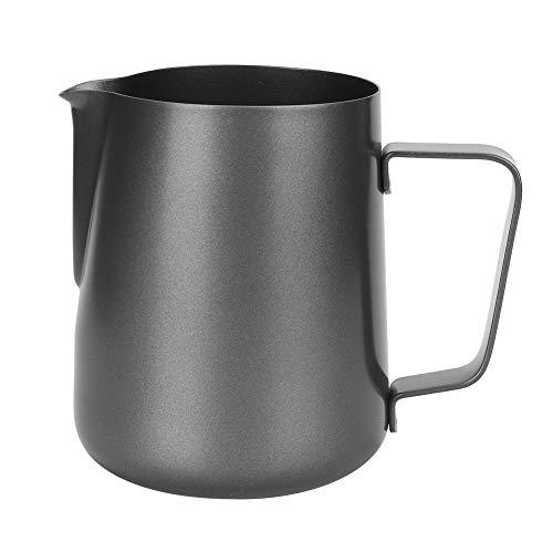 MAGT Kaffeekanne, 600ML Edelstahl Antihaft-Milchkannenbecher Barista Milchkanne und Latte Dekorieren Latte Aufschäumkanne Behälter