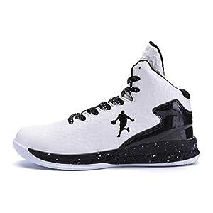 Los Hombres de Baloncesto Zapatos de Alta Tapa amortiguación de la luz Antideslizante Transpirable Deportes al Aire…