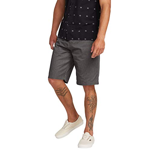 Volcom Men's Frickin Chino Short, Charcoal Heather, 36