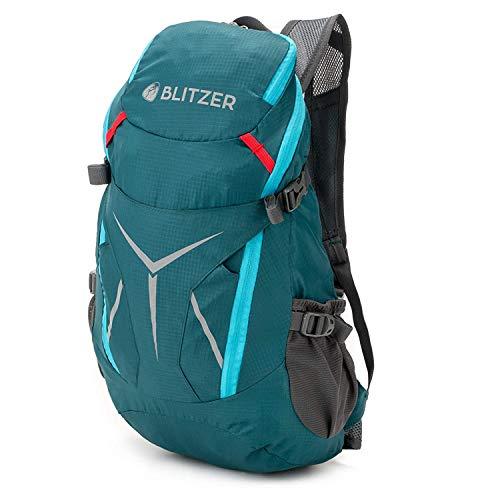 Blitzer Leichter Rucksack [420g] - 20L Fassungsvolumen - inklusive Signalpfeife und Reflektoren - Wasserfester Fahrradrucksack - Perfekt für Wandern und Radfahren