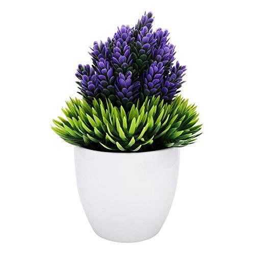 Duokon 16cm Flores Artificiales Maceta Bonsai Jarrón